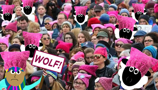 The pink pussy hat movement is a bunch of sheep crying wolf