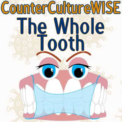 Dentures wearing a facemask